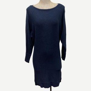 BANANA REPUBLIC Navy Blue Dolman Sweater Dress L